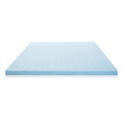2 Ventilated Gel Memory Foam Mattress Topper Size: Queen