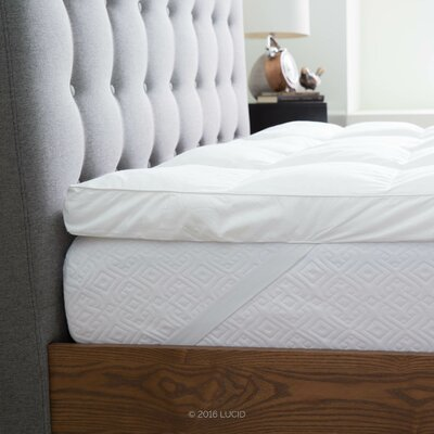 Down Alternative Fiber Mattress Topper Size: King