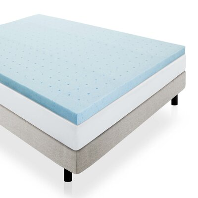 2.5 Ventilated Memory Foam Mattress Topper Size: Queen