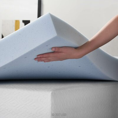4 Memory Foam Mattress Topper Size: Twin XL
