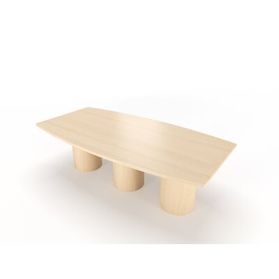 Surfacetech Geometry Collection 18' Boat Shaped Conference Table - Size: 12' L x 4' W Finish: Fusion Maple
