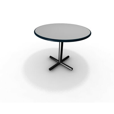 Triumph Round Gathering Table Size: 29 H x 60 W x 60 D, Top Finish: Frosty White