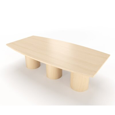 Geometry Collection Boat Shaped Conference Table Finish: Fusion Maple, Size: 18 L x 4 W
