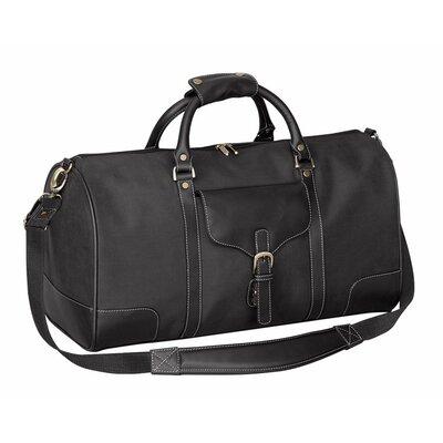 "Vintage Voyager 21"" Leather Travel Duffel Color: Black"