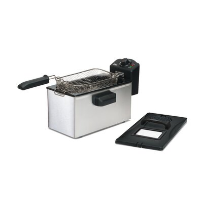 Gourmet 3.5 Liter Stainless Steel Immersion Deep Fryer EDF-3507