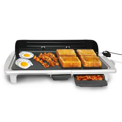 Elite by Maxi-Matic Gourmet Electric Non-Stick Griddle - Color: Silver