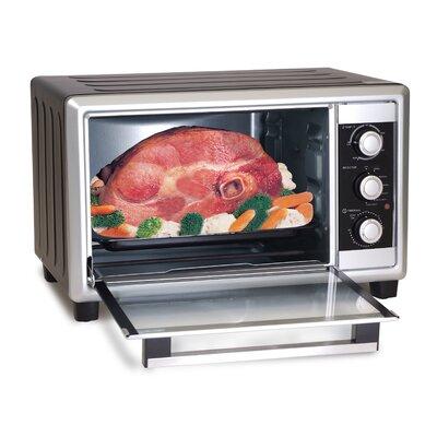 Elite Cuisine 6 Slice Toaster Oven Broiler with Rotisserie ERO-2008NZS