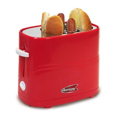 Cuisine Hot Dog Toaster Color: Red ECT-304R
