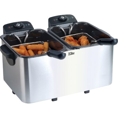 Platinum 2.83 Liter Stainless Steel Dual Deep Fryer EDF-3060