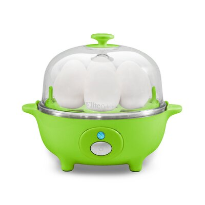 Cuisine Automatic Easy Egg Cooker Color: Green EGC-007G