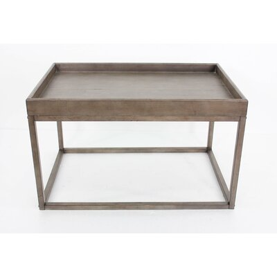 Coffee Table with Tray Top Color: Gray