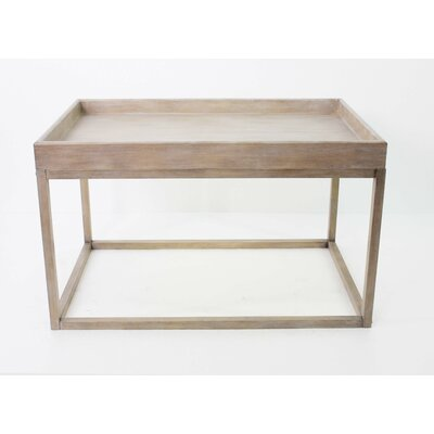 Coffee Table with Tray Top Color: Natural
