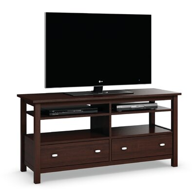 Carabus TV Stand With Two Drawers and Two Adjustable Shelves Finish: Brandywine