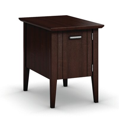 Currents Collection Chairside Table With Door Finish: Brandywine