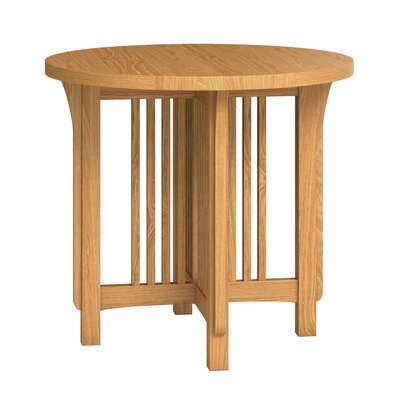 FLW Round Lamp Table Color: Golden Oak