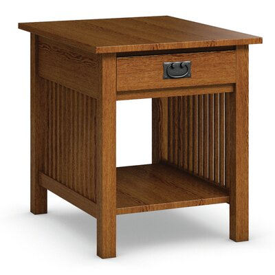 Mission Hills End Table With Storage Color: Mission