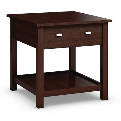 Carabus End Table With Drawer Color: Brandy Wine