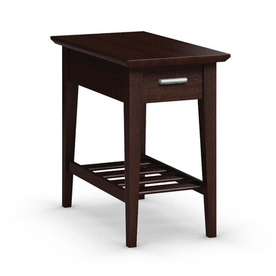 Currents Collection Chairside Table With Drawer Finish: Brandywine