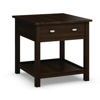 Carabus End Table With Drawer Color: Coffee