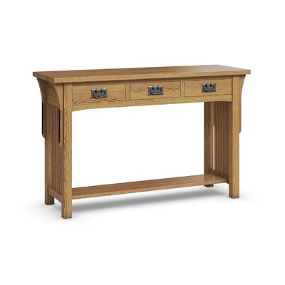 FLW Sofa Table With Three Drawers Finish: Golden Oak