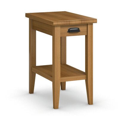 Downtown Chairside Table with Drawer Finish: Praline