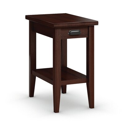 Downtown Chairside Table with Drawer Color: Brandywine