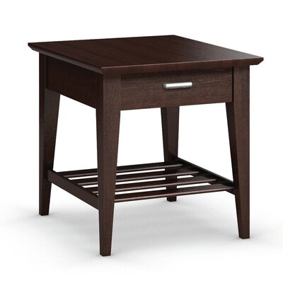 Currents Collection End Table With Drawer Color: Brandywine