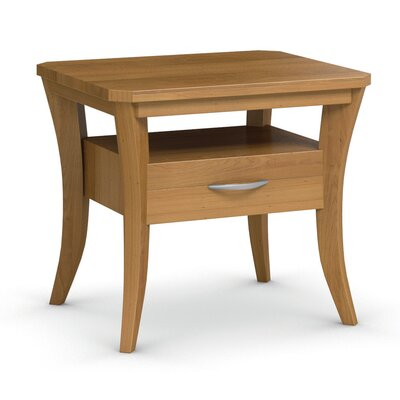 Cosmo End Table With Drawer Finish: Praline