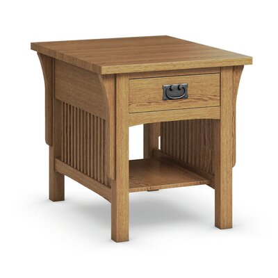 FLW End Table With Drawer Finish: Golden Oak