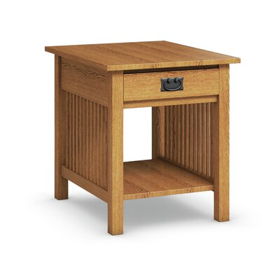 Mission Hills End Table With Drawer Finish: Golden Oak