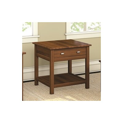 Carabus End Table With Drawer Finish: Burnt Sugar