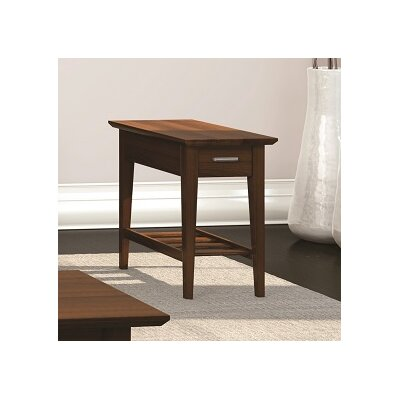 Currents Collection Chairside Table With Drawer Finish: Burnt Sugar