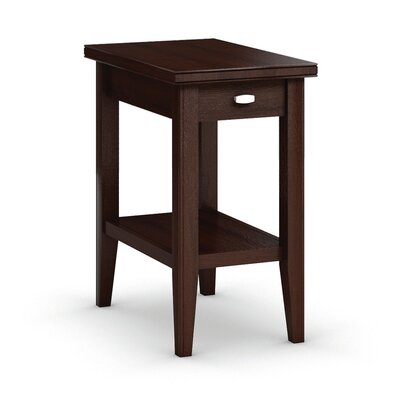 Bowery Chairside Table with Drawer Color: Brandywine