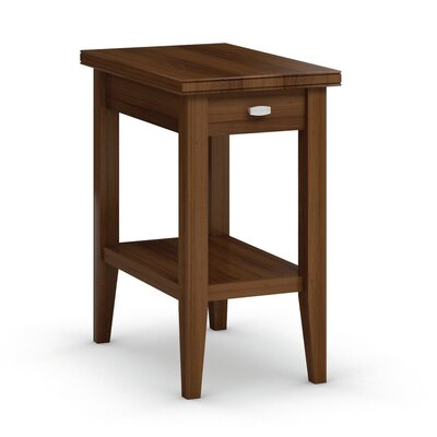 Bowery Chairside Table with Drawer Finish: Burnt Sugar