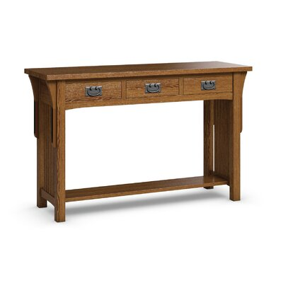 FLW Sofa Table With Three Drawers Finish: Mission