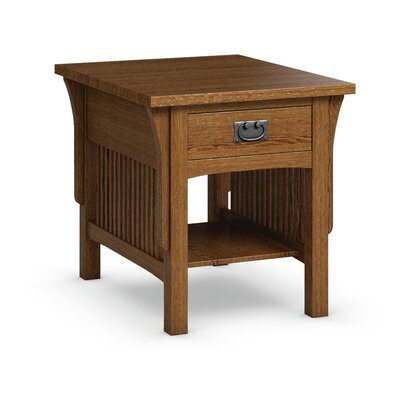 FLW End Table With Drawer Finish: Mission