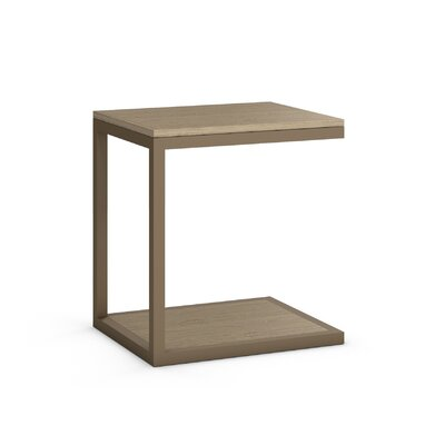 Circuit End Table Table Base Color: Driftwood, Table Top Color: Driftwood