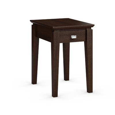 Windward Chairside Table with Power Station Color: Brandywine