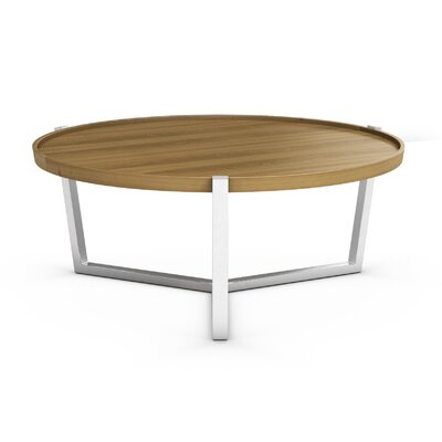 Cirque Coffee Table with Tray Top Color: Praline