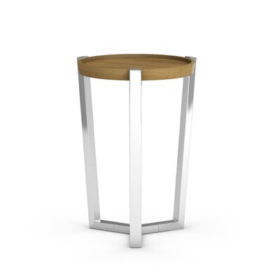 Cirque Chairside Table Color: Praline