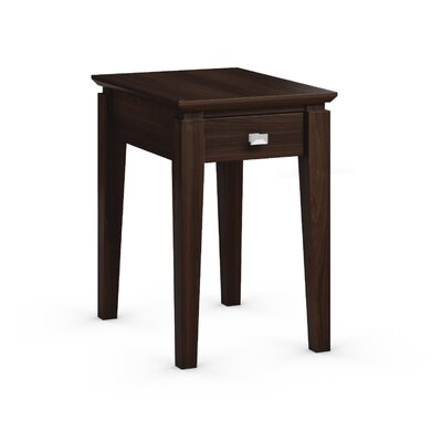 Windward Chairside Table with Power Station Color: Coffee