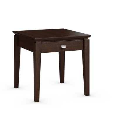 Windward End Table with Power Station Color: Brandywine
