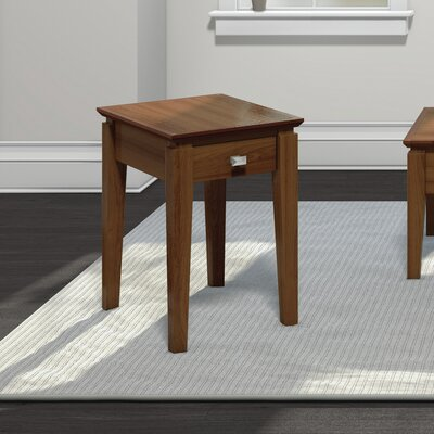 Windward Chairside Table with Power Station Finish: Burnt Sugar