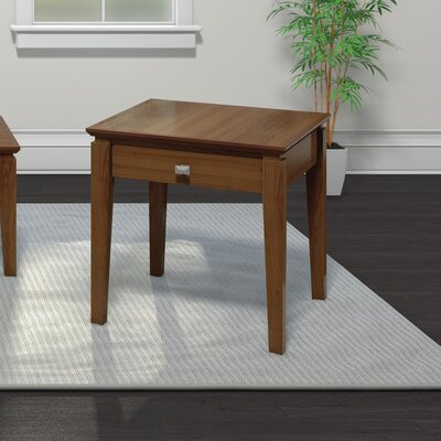 Windward End Table with Power Station Finish: Burnt Sugar