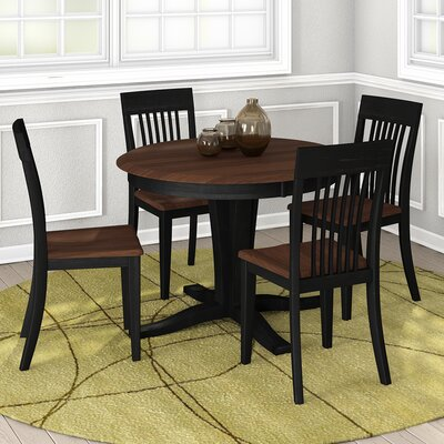 Skyline 5 Piece Dining Set Finish Amati Walnut