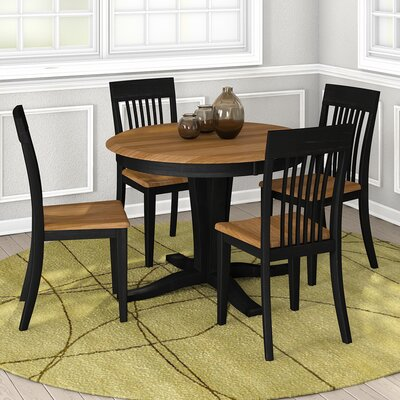 Skyline 5 Piece Dining Set Finish Majestic Walnut