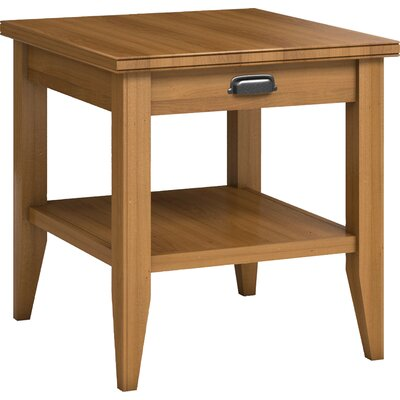 Downtown End Table with Drawer Color: Praline