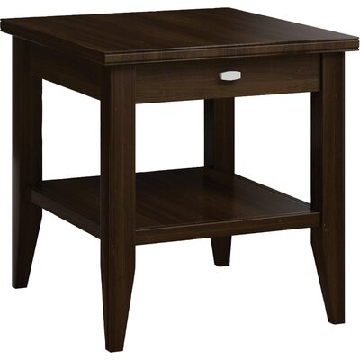 Bowery End Table with Drawer Color: Coffee