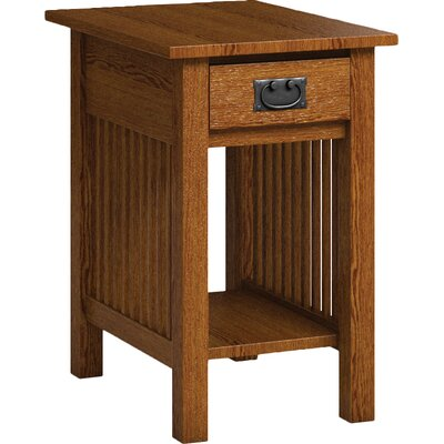 Mission Hills Chairside Table With Drawer Finish: Mission