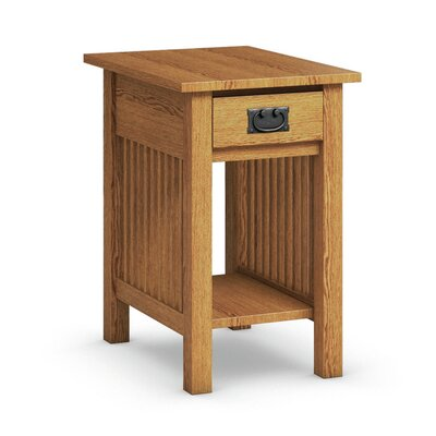 Mission Hills Chairside Table With Drawer Finish: Golden Oak